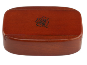 Snuff Box Wooden - Sliding Lid Magnetic Dark
