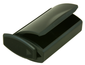 Snuff Box Black Plastic with dispenser