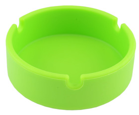 Ashtray Silicone 10cm Round Green