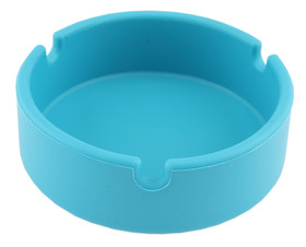 Ashtray Silicone 10cm Round Blue