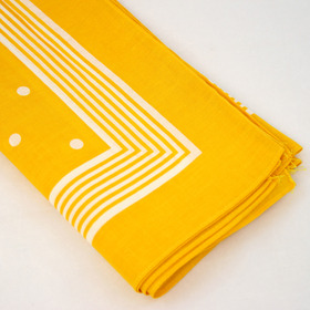 Snuff Handkerchief - Yellow Big Polka Dot