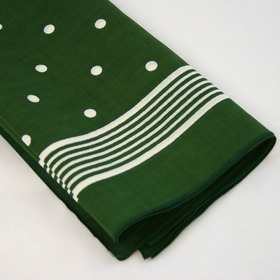 Snuff Handkerchief - Green Big Polka Dot