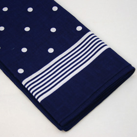 Snuff Handkerchief - Blue Big Polka Dot