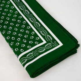 Snuff Handkerchief - Green Pattern