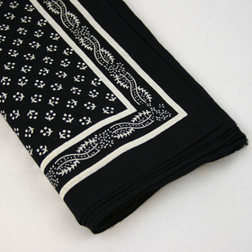 Snuff Handkerchief - Black Pattern