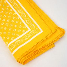 Snuff Handkerchief - Yellow Pattern