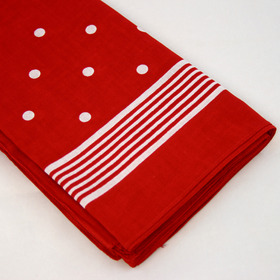 Snuff Handkerchief - Red Big Polka Dot