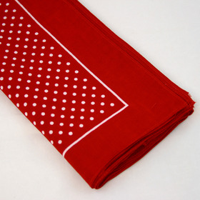 Snuff Handkerchief - Red Small Polka Dot