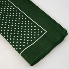 Snuff Handkerchief - Green Small Polka Dot