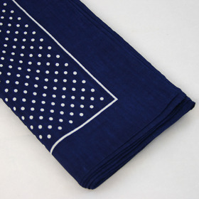 Snuff Handkerchief - Navy Small Polka Dot