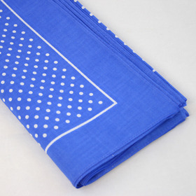 Snuff Handkerchief - Marine Blue Small Polka Dot