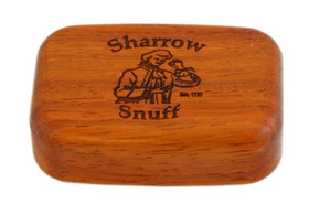 Snuff Box Lg. Wooden sliding lid Rosewood