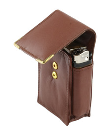 Cigarette Lighter Case Brown for KS & SK Cigarettes