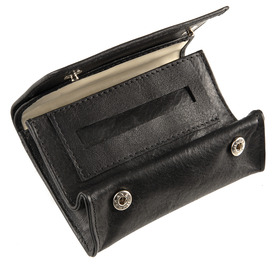 Sharrow Leather Small Button Tobacco Pouch with P/Slot ref:3506