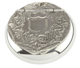 Pewter Snuff Box Scroll
