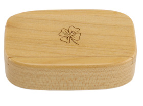 Snuff Box Wooden - Sliding Lid Magnetic Pale