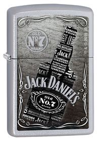 Zippo 29285 Jack Daniels Bottle, Satin Chrome
