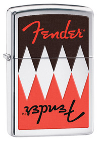 Zippo 29309 Fender, Reflection, High Polish Chrome