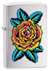 Zippo 29399 Flower Tattoo, Brushed Chrome
