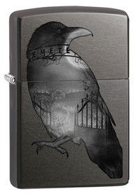 Zippo 29407 Double Exposed Raven, Gray Dusk