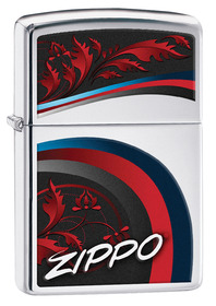 Zippo 29415 Zippo Leaves, High Polish Chrome