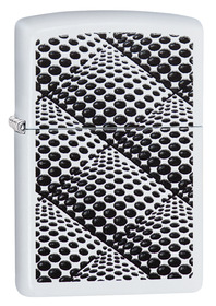 Zippo 29416 Dots and Boxes, White Matte