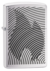 Zippo 29429 Illusion Flame, Brushed Chrome