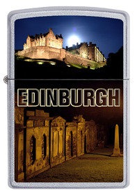 Zippo 60002897 Edinburgh Castle, Satin Chrome