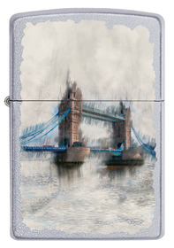 Zippo 60002899 Tower Bridge, Satin Chrome
