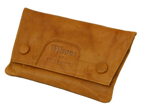 Sharrow Leather Tob.Pouch Ant.Tan with 2 Buttons & P/slot ref:3522