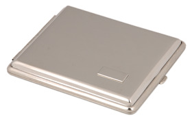 Cigarette Case Chrome Double Sided K/S with I.P