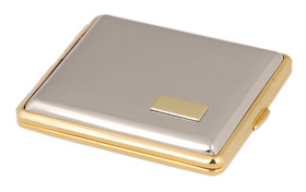 Cigarette Case Chrome/Gilt Double Sided K/S with I.P.