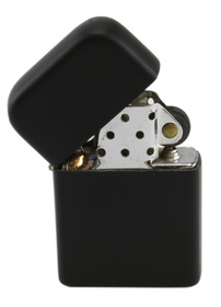 Matt Black Windproof Lighter
