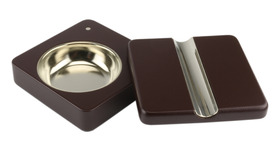Cigar Ashtray Matt Cherry with Sliding Lid