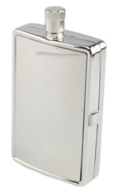 Hip Flask Pol/Chrome with Cig. Case 2oz/60ml