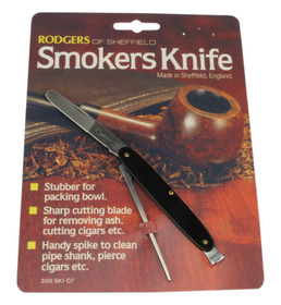Rodgers Smokers Knives Black Singly carded