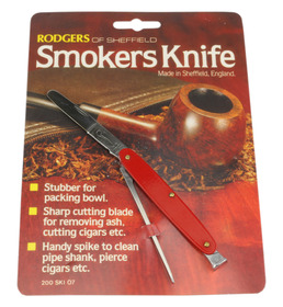 Rodgers Smokers Knives Red Singly carded