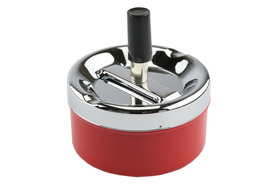 Spinner Ashtray 9.5cm Red
