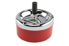 Spinner Ashtray 11cm Red