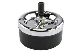 Spinner Ashtray 11cm Black