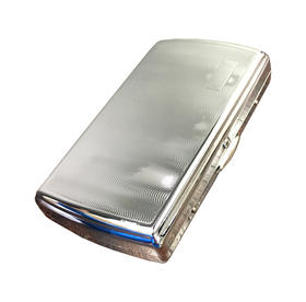 Chrome Cigarette Case with Initial Panel