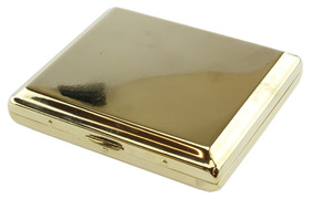 Polished Gold Cigarette Case for Kingsize Cigarettes