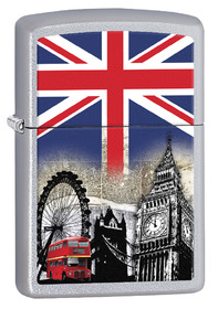 Zippo 60001628 London Scene, Satin Chrome