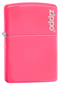 Zippo 28886ZL Neon Pink with Logo