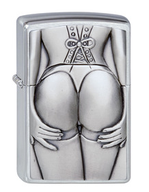 Zippo 1300116 Brushed Chrome, Stocking Girl