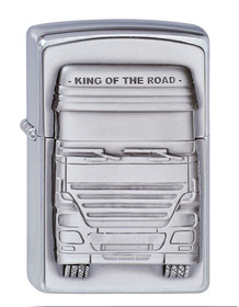 Zippo 1300176 Brushed Chrome, King of the Road