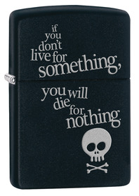 Zippo 29091 Live For Something, Black Matte