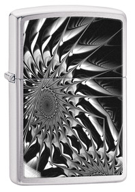 Zippo 29061 Metal Abstract, Brushed Chrome