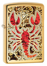 Zippo 29096 Scorpion Shell, High Polished Brass