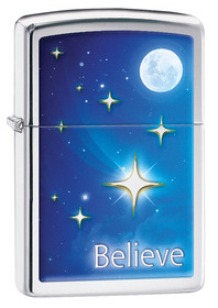 Zippo 29071 Stars, High Polished Chrome
